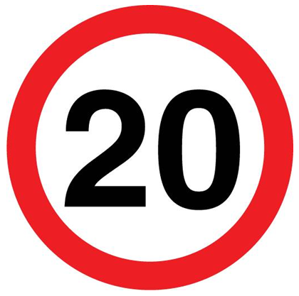 Speed Limit Sign - Lone Worker Protection