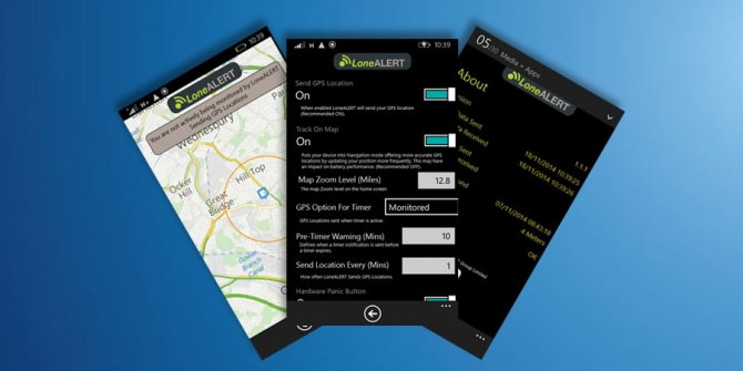 LONEALERT Windows 8.1 Smartphone App