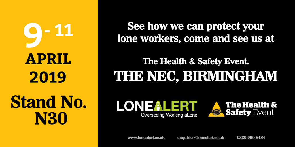 Health & Safety Event 2019 - Register your interest today with LONEALERT