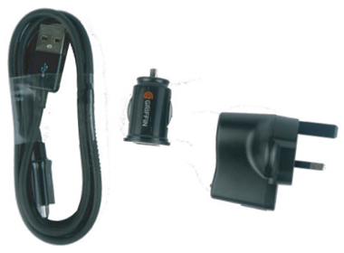 Man Down X Charging Pack - USB lead, plus adapters for 12v vehicle and mains charging