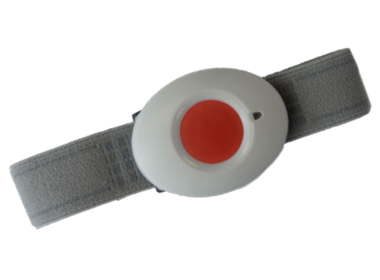 Wrist worn SOS panic button that connects to Plus range and can remotely trigger an alarm. One Plus device can service 5 SOS buttons