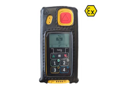 Replacement leather carry case for Atex lone worker devices. Atex rated.