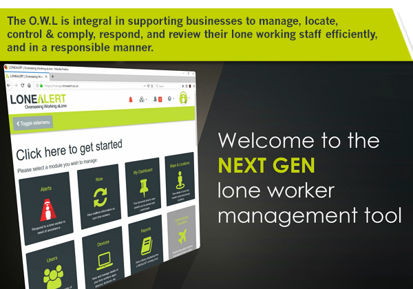 LONEALERT O.W.L - The most advanced lone worker management tool