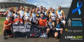 Fundraising cyclists sponsored by LONEALERT raise more than £62k for charity